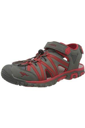 KangaROOS Unisex vuxen osato-sandal, Steel Grey Red5 UK