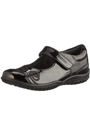Geox Flicka Jr skugga C skola uniform sko, - 33 EU