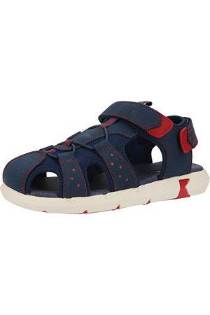 Kickers Herr jumange sandal, Marine Rouge - 1 UK