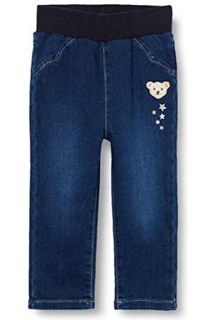 Steiff Baby-flicka med söt teddybäckapplikation jeanshose
