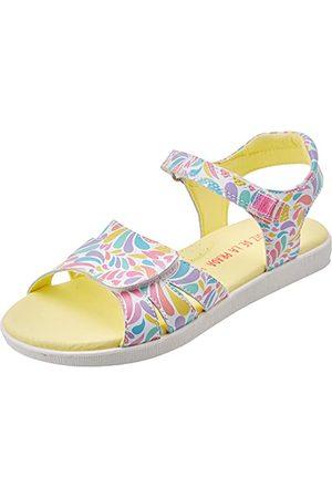 Agatha Ruiz de la Prada Flicka 212934-b sandal, Blanco Y Lagrimas Sauvage Y stämpel - 30 EU