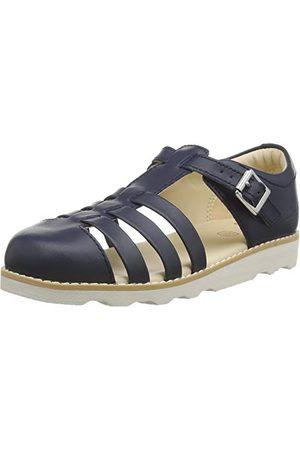 Clarks Pojkar krona stam K slutna sandaler, marinblå läder marin läder34 EU Weit