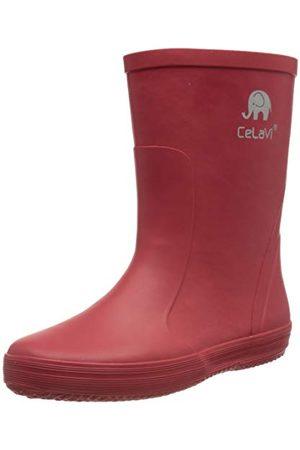 CeLaVi Unisex barns basstövlar – solid regnstövel, Elm Green - 27 EU