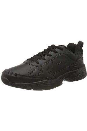 KangaROOS Unisex Kp-lex sneaker, Jet Black Mono 5500-44 EU