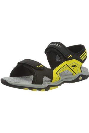 KangaROOS Unisex vuxnas K-Everest sandal, Jet Black Sun Yellow2 UK