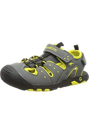 KangaROOS Unisex vuxnas K-Trek sandal, Steel Grey Neon Yellow - 3 UK