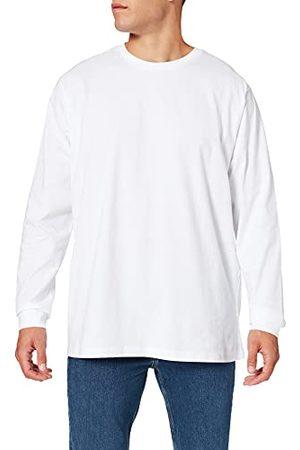 Build Your Brand Herr ekologisk långärmad med cuffrib t-shirt