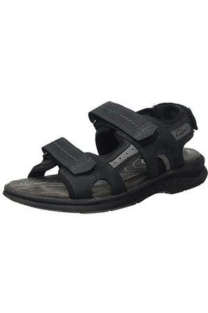 Clarks Herr Hapsford Trail sandaler, Svart44 EU