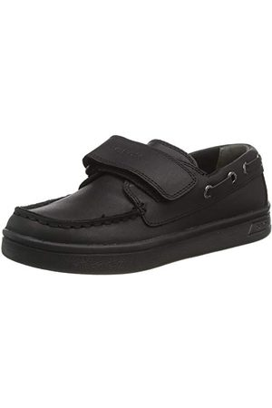 Geox Pojkar J Djrock pojke en skola uniform sko, svart30 EU