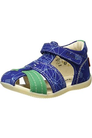 Kickers Baby-flicka Bigflo-2 sandaler, Leopardbeige23 EU