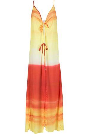 AMIR SLAMA Kvinna Strandklänningar - Strandklänning med ombréeffekt