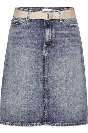 Tommy Hilfiger Kvinna Minikjolar - A Line Hw Lus Skirt Kort Kjol Blå