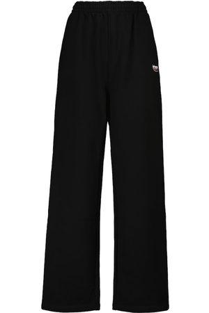 Balenciaga Kvinna Joggingbyxor - Logo cotton sweatpants