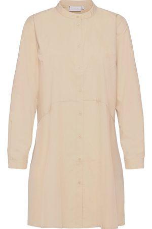 Coster Copenhagen Kvinna Tunikor - Shirt W. Bias Bottom Tunika Creme