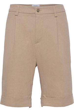 Les Deux Preston Bermuda Dobby Shorts Shorts Casual Brun