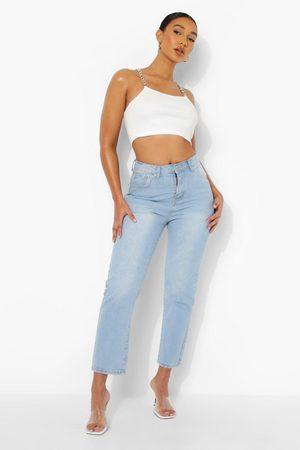 Boohoo Plus - Raka Jeans I Vintagetvätt