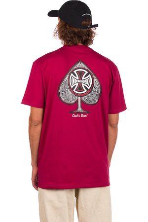 Independent CBB Cross Spade T-Shirt maroon
