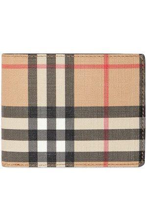 Burberry Man Plånböcker - Vintagerutig vikt skinnplånbok