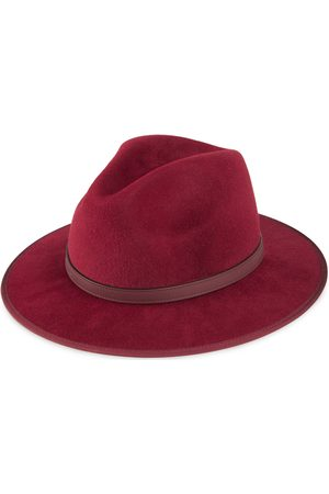 Gucci Felt hat with leather detail