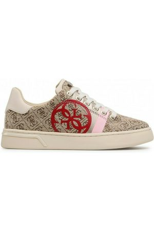 SNEAKER DONNA GUESS KAYSIE STAMPA LOGO ACTIVE LADY  RIALZO Cm 4 WHITE