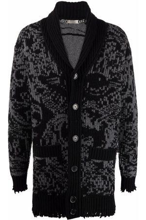 Philipp Plein Man Koftor - Jacquard-print cardi-coat