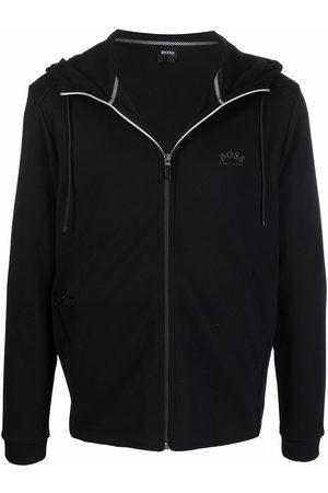 HUGO BOSS Zip-front logo hoodie