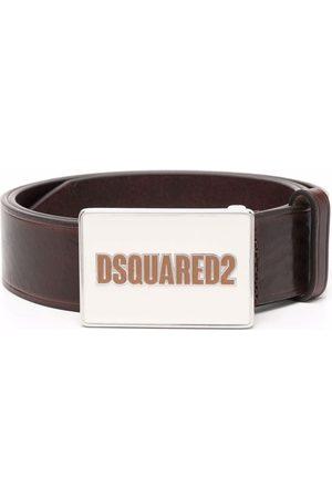 Dsquared2 Logo-print buckle-fastening leather belt