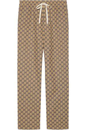 Gucci Byxor med dragsko och monogram
