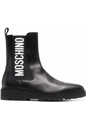 Moschino Chelsea-boots med logotyp