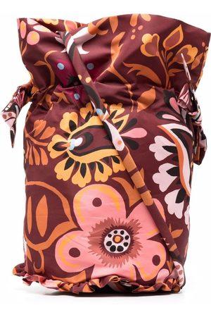 La Doublej Floral-print bucket bag