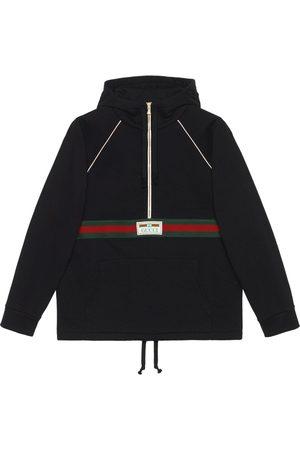 Gucci Man Hoodies - Web-stripe cotton hoodie