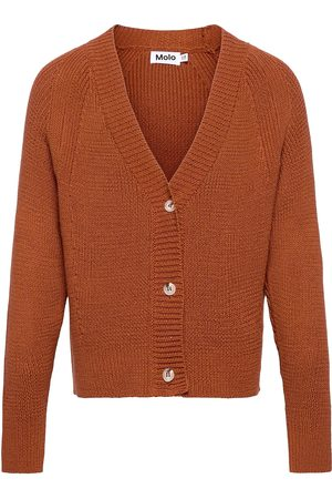 Molo Gilda Stickad Tröja Cardigan Orange