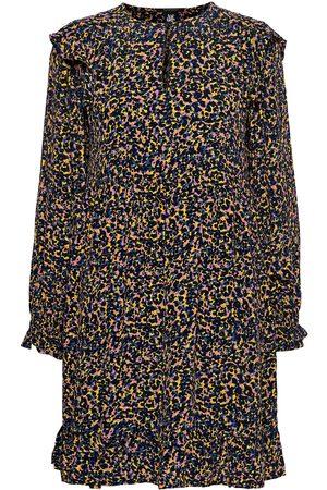 Scotch&Soda Printed Drapey Dress With Shoulder Ruffles Dresses Everyday Dresses Multi/mönstrad