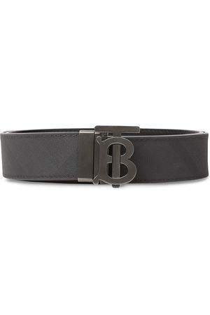 Burberry Man Bälten - Rutigt bälte med monogram
