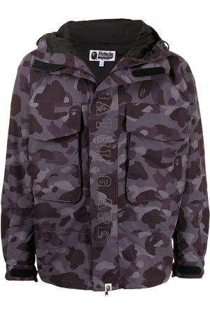 A BATHING APE® Man Jackor - Camouflage-print hooded jacket