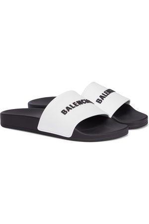 Balenciaga Kvinna Tofflor - Logo rubber slides