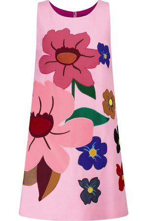 Dolce & Gabbana Floral wool crêpe minidress