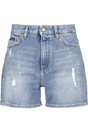 Dolce & Gabbana Mid-rise denim shorts