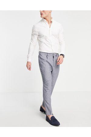 ASOS Man Dressade byxor - – supersmala kostymbyxor med knottrig struktur