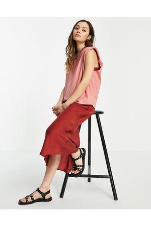 AllSaints – Tierneyconi – Rosaröd 2-i-1-klänning-Pink