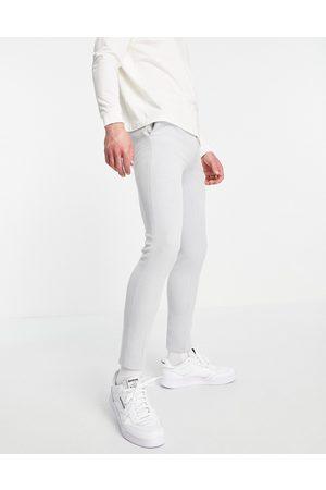 ASOS Man Dressade byxor - – finbyxor i oxford-modell med supersmal passform
