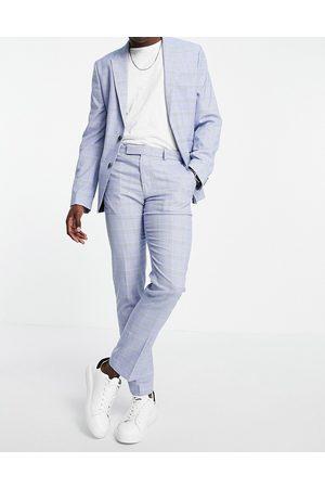 ASOS Man Dressade byxor - – glencheckrutiga kostymbyxor med extra smal passform