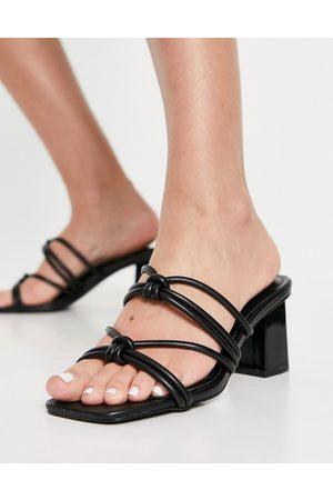 SIMMI Shoes Simmi London – Dazy – Svarta halvhöga klacksandaler- /a