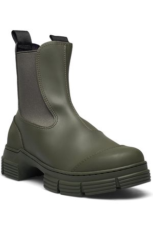 Ganni Recycled Rubber Shoes Boots Ankle Boots Ankle Boot - Flat