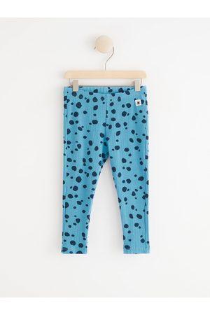 Lindex Baby Leggings - Ribbade leggings med prickar