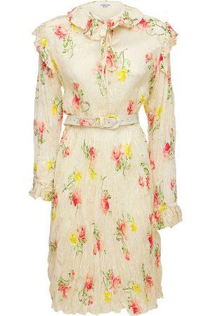 Balenciaga Kvinna Asymmetriska klänningar - Asymmetric Silk Jacquard Dress