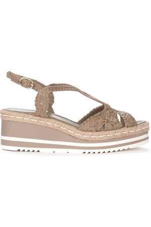 Pon´s quintana Wedge sandal in leather