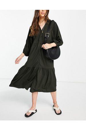 MANGO Kvinna Midiklänningar - – smockklänning i midilängd av poplin- /a