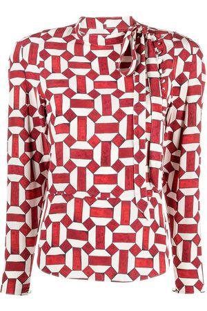Isabel Marant Kvinna Långärmade skjortor - Patterned shirt