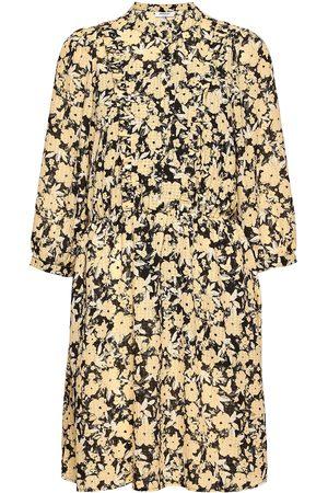 MOSS COPENHAGEN Jenessa Frix 3/4 Dress Aop Dresses Everyday Dresses Brun